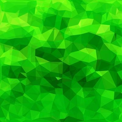 Abstract Green Triangle Background
