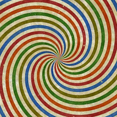 Vintage Swirling Rays Illustration