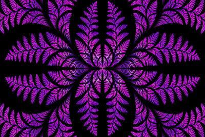 Fabulous Symmetric Pattern of the Leaves in Purple