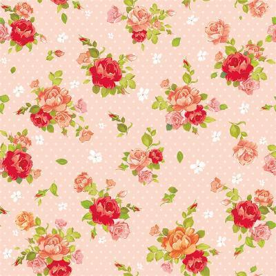 Rose Vintage Pattern on Light Design Background