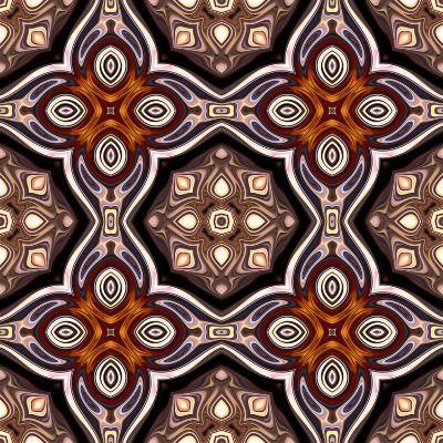Art Nouveau Geometric Ornamental Vintage Pattern in Violet