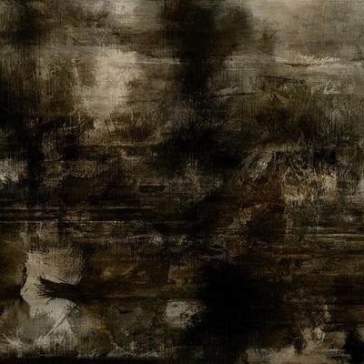 Art Abstract Acrylic Background in Brown, Grey and Black Colors