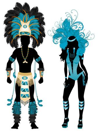 Carnival Blue Couple