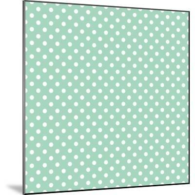 White Polka Dots on a Retro Vintage Mint Green Background