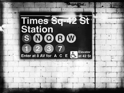 Subway Times Square - 42 Street Station - Subway Sign - Manhattan, New York City, USA