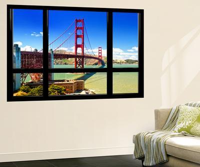 Window View, Special Series, Golden Gate Bridge, San Francisco, California, United States