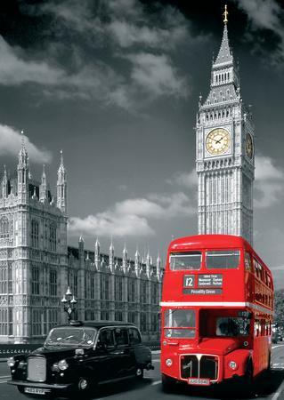 London Big Ben Bus and Taxi