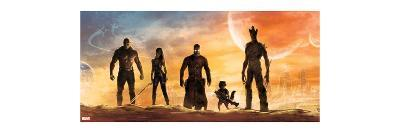 Guardians of the Galaxy - Star-Lord, Rocket Raccoon, Drax, Gamora, Groot