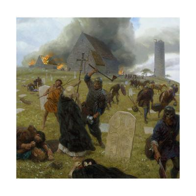 Norse Marauders Wreak Mayhem at Clonmacnoise, Ireland
