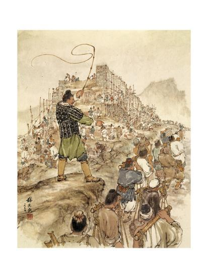 7f33a1a9 Painting of Slaves Building the Great Wall of China Giclee Print by  Hsien-Min Yang at AllPosters.com