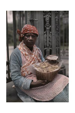 A Vendor Sells Pralines in the French Quarter