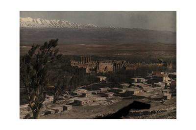 A Scenic View of the Bacchus Temple before the Lebanon Range