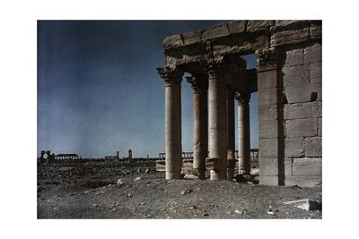 The Baal Temple with the Triumphal Gateway and Grand Colonnade Behind