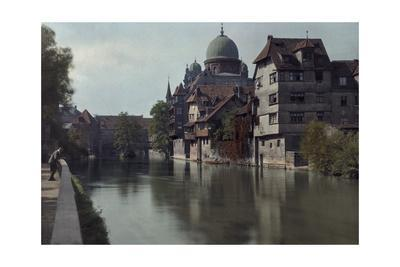 A Partial View of the Pegnitz River with the Synagogue on the Wall
