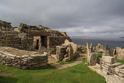 Ruins of the 1st Century Ad Broch of Gurness, an Early Form of Residential Castle
