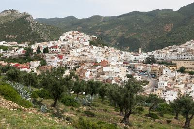 A Wide Landscape View of the Moroccan City of Moulay Idris