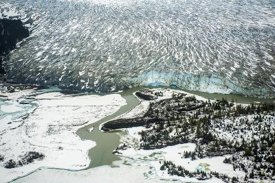 An Aerial View of the Terminus of the Taku Glacier