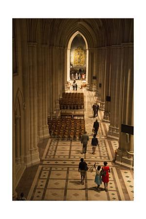 People Inside the National Cathedral in Washington, Dc