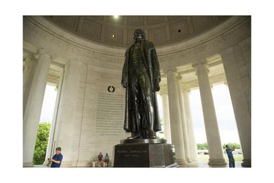 The Statue of Thomas Jefferson in the Jefferson Memorial in Washington, Dc