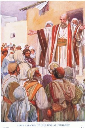 Peter Preaches to the Jews at Pentecost
