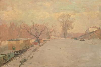 Road by the Seine at Neuilly in Winter, C.1888