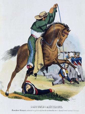 A Farmer Lassoing an Officer, 1826