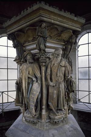 15th Century Sculptures, Detail from Interior of Calvary of Certosa, Champmol, France