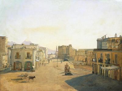 Largo Del Castello with the Lantern from Molo Pier in Naples, 1825