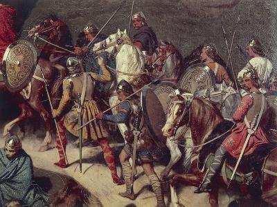 The Armies of Charlemagne, Detail from Charlemagne Crossing the Alps in 773, 1838