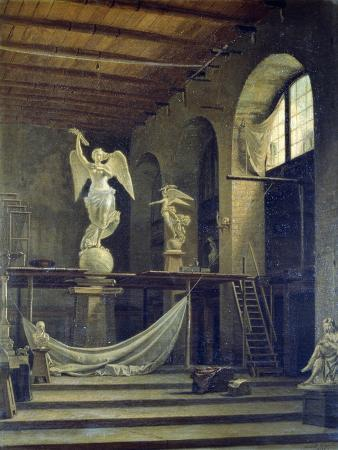 The Sculptor Caggiano's Studio with Statue of Victory