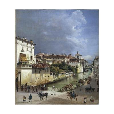 Milan, Naviglio Di Porta Romana, 1835