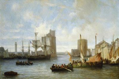 France, Ships in La Rochelle Harbor in 1849