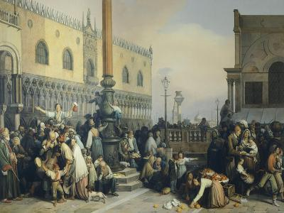 Lottery Draw in Saint Mark's Square, 1847