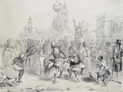 Dia De Reyes in Havana, Cuba 19th Century Engraving