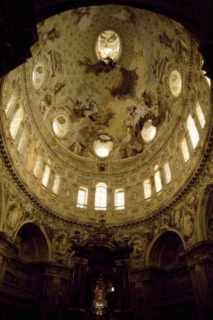 Frescoed Vault of Elliptical Dome, Sanctuary of Vicoforte, Vicoforte, Piedmont, Italy