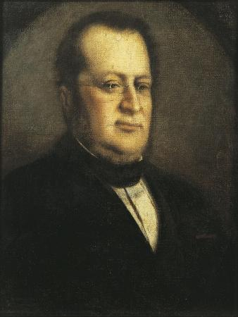 Portrait of Camillo Benso, First Prime Minister of the Kingdom of Italy, 1808-1890