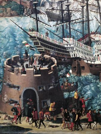Embarkation of Henry VIII on Board the Henry Grace a Dieu in 1520, Detail