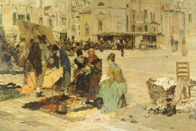 The Saturday Market in Campo San Paolo, Venice, 1882-1883
