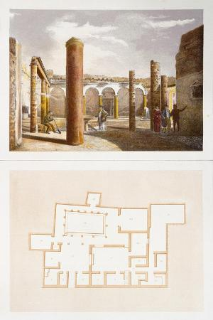 View and Floor Plan of House from Ix Region, Insula VII, from Pompei