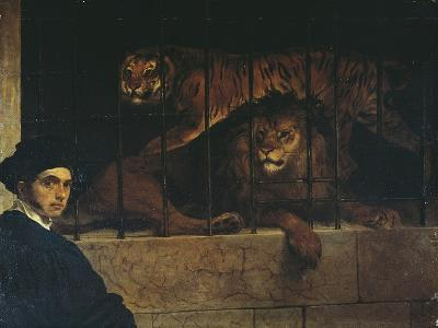 Self-Portrait with a Tiger and Lion, 1831