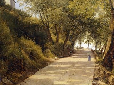 The Walk Up to Ariccia, Detail, 1839