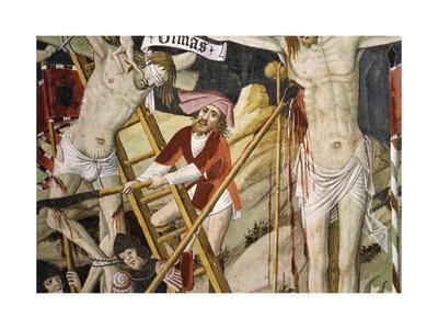 France, La Brigue, Notre-Dame Des Fontaines Chapel, Detail from Death of Jesus, 1491