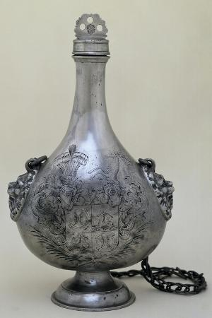 Wine Flask with Chain, Made for Wedding of Christof Verdmuller to Katharina Hirzel, 1669