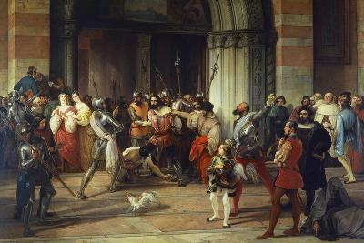 Ventura Fenaroli Arrested in the Carmine Church in Brescia by the French, 1834