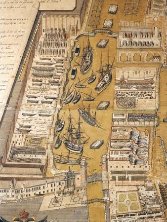 Italy, the Arsenal in Venice in 1797, before the Napoleonic Occupation