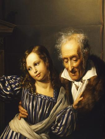 Old Man Pointing Out Maria Luigia's Herm to His Granddaughter, Circa 1830