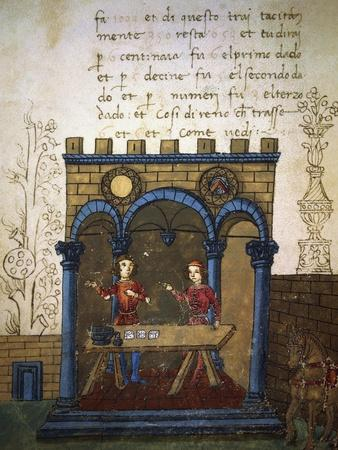 Betting on the Game of Dice, Miniature from the Treatise on Arithmetic
