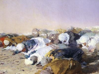 The Sermon of Mohammed, 1856, Detail