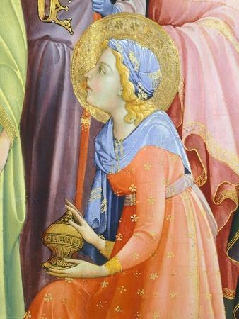 Detail Form Adoration of the Magi Showing Saint Bringing Incense, 1422