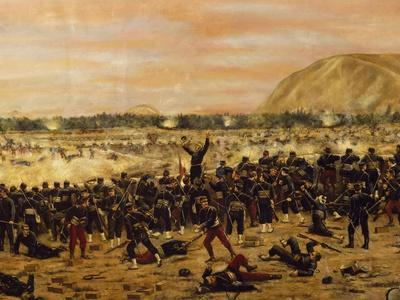 Battle of Miraflores, Peruvian Soldiers Defending Lima from the Advance of the Chilean Army